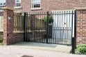 flat top electric gate fitted